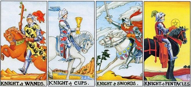 Рыцарь жезлов в сочетании со старшими и младшими арканами