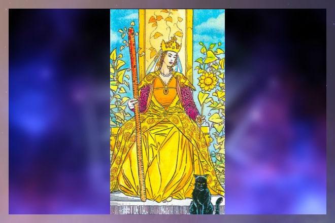 Королева Жезлов в гадании на здоровье