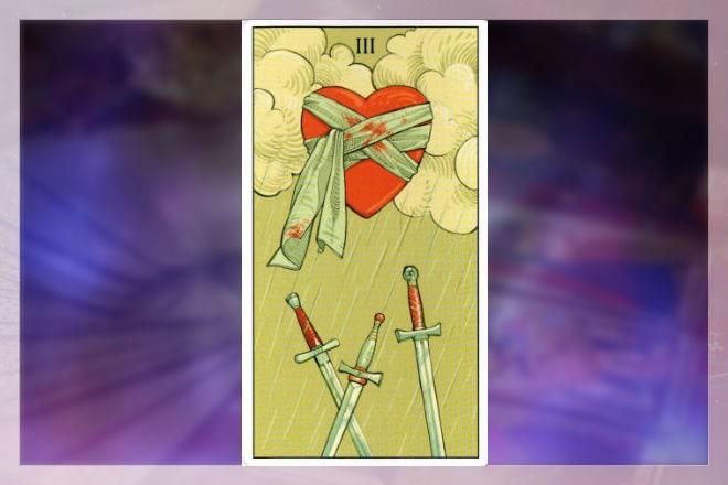 сочетания карт с тройкой мечей