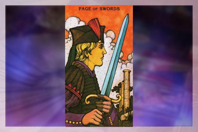 Сочетание Пажа мечей с некоторыми арканами